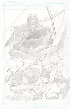 Spider-Man 2099 Test Cover WIP by EGClark