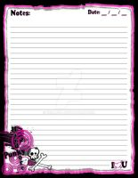Pink N Black Punky Stationary by Erialosa