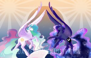 Sun and Moon by XNedra22