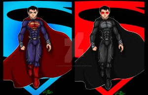 Man Of Steel (print set) by ChristopherStuart