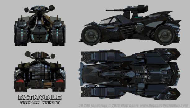 Arkham Knight Batmobile - Schematic with Turret by Ravendeviant