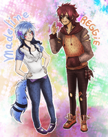 Madeline and Reggie - Morbys kids- by KiraiRei