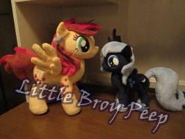 MLP Plushie Filly Luna and OC twister (commission) by Little-Broy-Peep