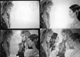 Jareth and Sarah WIP by Kalasinar