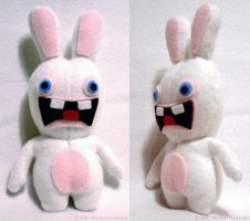 Raving Rabbid Plush by risu-san