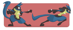 Lucario Training by squire-boot