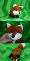 Fluffy red fox plush by goiku