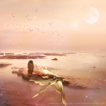 Golden Mermaid ~ Daily Inspiration by GeneRazART