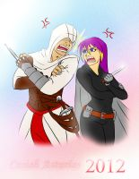 Altair and Cyndercute by Jade-Hernandez