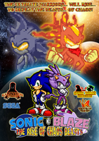 Sonic and Blaze The Rise of Chaos Beasts Poster by KingAsylus91