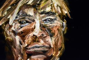 Portrait of Andy Warhol (Closeup Face 2) by sioranth