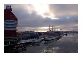 Gothenburg harbour by paddington