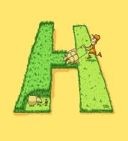 The letter H by krolone