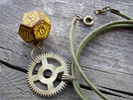 Steampunk D12 dice pedant v2 by kickthebucket