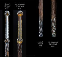 Thranduil Staff side by side by my-immortals