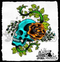 .rose.skull. by gittson