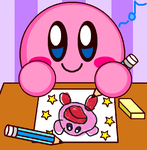 Kirby Drawing by cuddlesnam