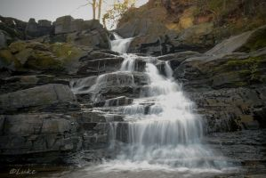Augusta Canal: Rae's Creek Waterfall 1 by Natures-Studio