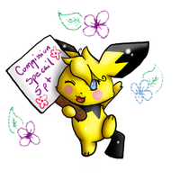 5 pt commission special -Pichu by ShushiKitty