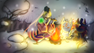 = Campfire in Kamui = by Arkenidae