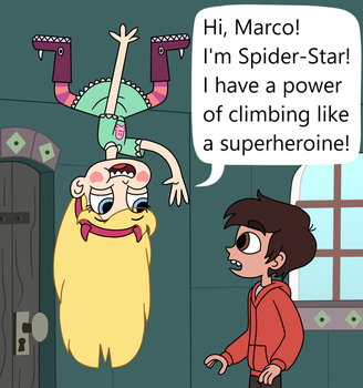 Star is climbing on the ceiling like a spider by Deaf-Machbot