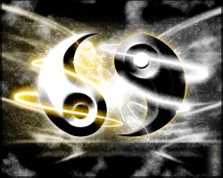Abstract Ying Yang by Catalin-Geani