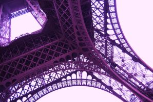 Purple Eiffel Tower by MishMreow