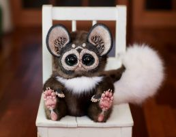Tiny Griffin Lemur Spotted Brown by Santani