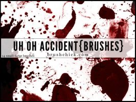 Uh Oh Accident, Splatter Brush Pack by brushchick