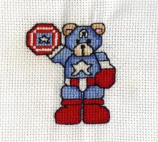 Cross Stitch Captain America by LeeAlexis