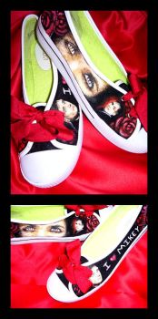 Mikey Way Customized Shoes by LieutenantDeath