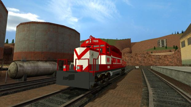 Gmod SD40-2 Front side by TheSniperKid