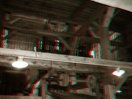 The Old Stamp Mill - Anaglyph by Temphis