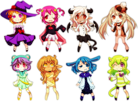 Chibi Adoptables Batch 3 (Open!) by Sandette