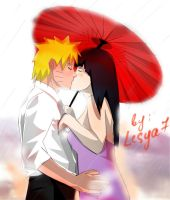NaruHina: Kiss under the rain... by Lesya7