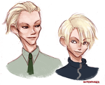 Draco Malfoy + Scorpius Malfoy by Rattenfanger