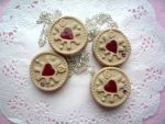 Jammie Dodger Necklaces by Meow-Box