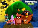 The Angry Birds Space Movie (5th Anniversary) by Alex-Bird