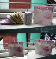 Flower fairy miniature book with bag by sakyachan