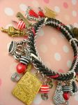 Alice In Wonderland Chainmaille Charm Bracelet by monsterkookies