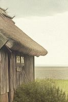 The old house on the island by Sparvoga