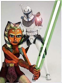Rex and Ahsoka by Spifster