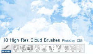 10 Free High-res Cloud Brushes by designerfied