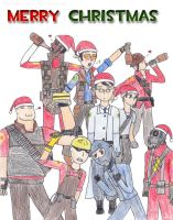 TF2: Merry Christmas by Shinigami-Spartan