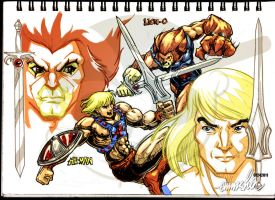 Lion-O vs. He-Man by emmshin