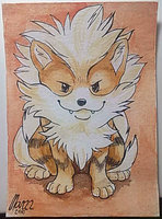 ACEO Arcanine by Marzzunny