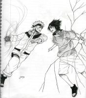 Naruto vs Sasuke by osy057
