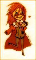 chibi grell by JustPlainCharming