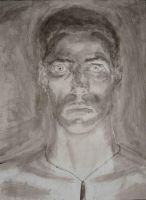 Self Portrait 1_ink by protoPrimus