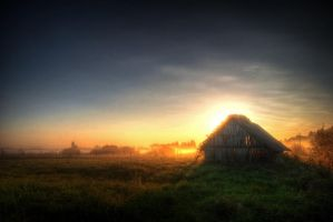 hut in the fog II by Seselgis